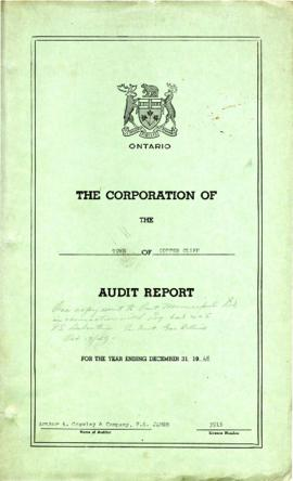 The Corporation of the Town of Copper Cliff Audit Report for the Year Ending December 31, 1948