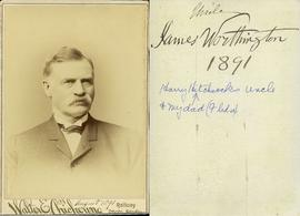 Walter E. Chickering Railway Photo Studio. August 1891 - Uncle James Worthington - 1891 - Harry H...