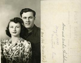 Ann and Archie Chisholm - May 5, 1943 Montreal Que - (Box 822 Malartic)