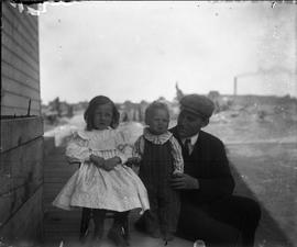 John H. Gillespie with Two Children in Sudbury, Ontario