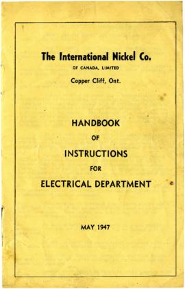 The International Nickel Co. of Canada, Limited - Copper Cliff, Ont. - Handbook of Instruction fo...