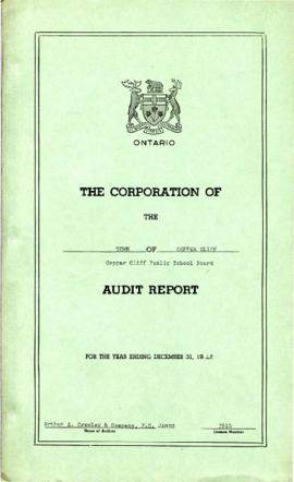 The Corporation of the Town of Copper Cliff Copper Cliff Public School Board Audit Report for the Year Ending December 31, 1948