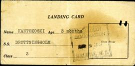 Landing Card for Eeva Kantokoski
