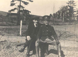 Lieutenant Addison Alexander Mackenzie and civilian, James Mounsie in Woodbridge, Ontario