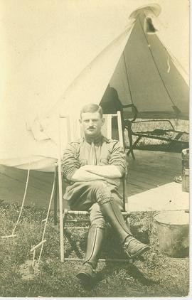 Major Mackenzie in war camp during WWI