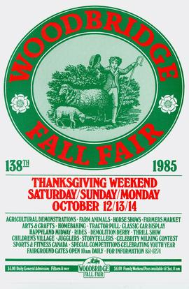 Advertisement for Woodbridge fall fair 1