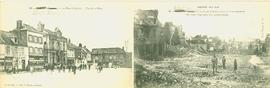 Albert, Somme, The Arm Place before and after bombardment France WWI