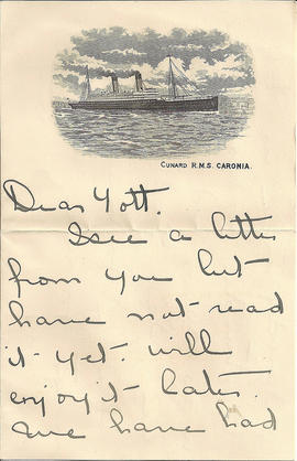 Letter from Dell Grafton