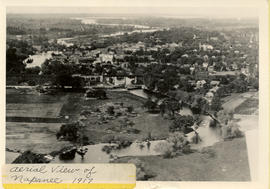Aerial view of Napanee 1917