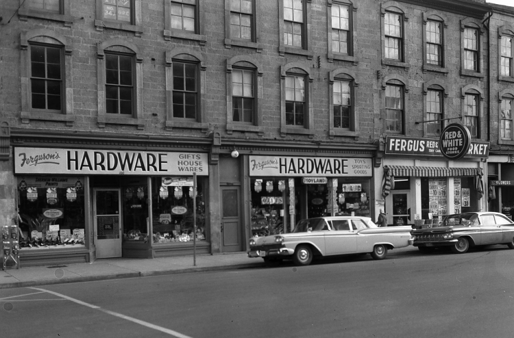 Ferguson\'s Hardware and the Red and White Market - Fergus - Archeion