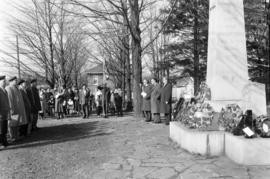 Participants in Remembrance day service held in Fergus