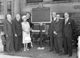Unveiling of plaque honors Fergus founders