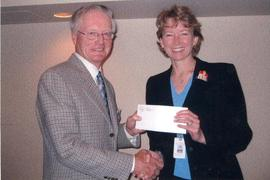 Guelph-Wellington Men's Club presents cheque