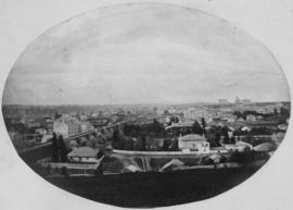 Guelph from Waterworks Hill, 1860s