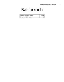 Balsarroch Place Architectural and Historical Inventory