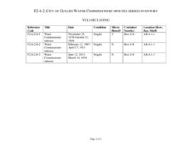 City of Guelph Water Commissioners minutes