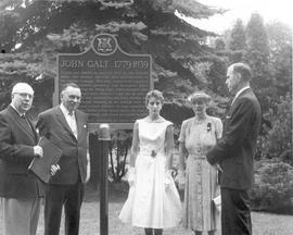 Unveiling of the Galt plaque in Royal City Park