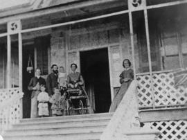The Higinbothams on the porch of Riverview