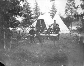 'Puslinch lake Helen's Island Camp 1879'
