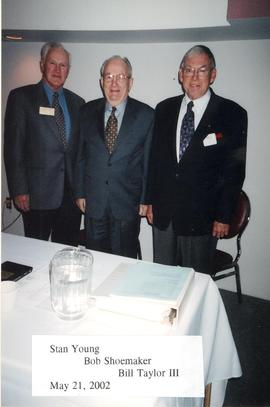 Stan Young, Bob Shoemaker, Bill Taylor III of the Guelph-Wellington Men's Club