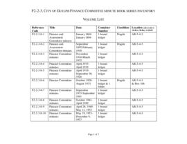City of Guelph Finance Committee minutes