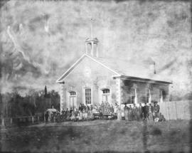 Students in front of Eramosa Township School
