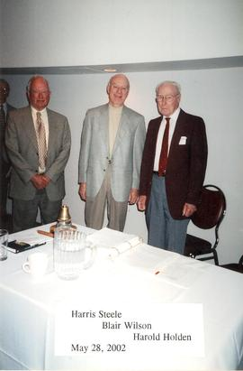 Harris Steele, Blair Wilson, and Harold Holden of the Guelph-Wellington Men's Club