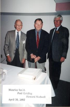 Maurice Smith, Paul Golding, and Howard Nodwell of the Guelph-Wellington Men's Club