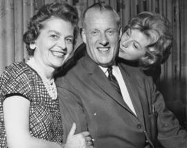 Alf Hales with Wife and Daughter