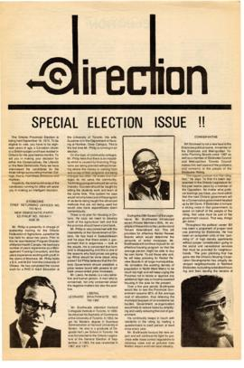 """Direction"" : [special election issue]"