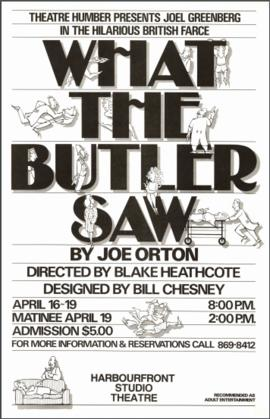 """What the Butler Saw"" : [poster]"