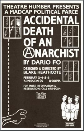"""Accidental Death of an Anarchist"" : [poster]"