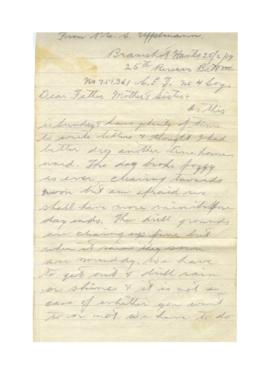 Letter from Sheldon Uffelman to Jacob, Eliza, and Gladys Uffelman