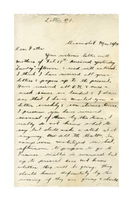Letter from Sheldon Uffelman to Jacob Uffelman