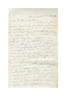 Letter from Sheldon Uffelman to Jacob and Eliza Uffelman