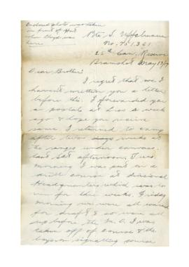 Letter from Sheldon Uffelman to Orley Uffelman