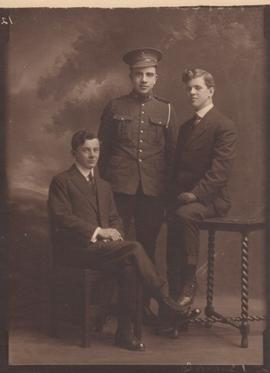 Photograph of three unidentified men