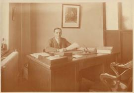 Photograph of Lewis Samuel in his office