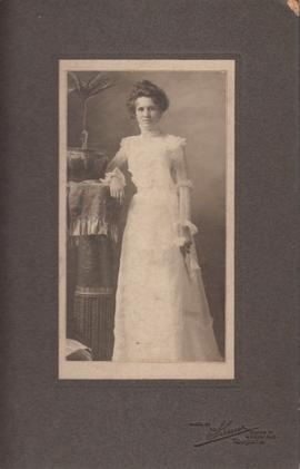 Photograph of woman in wedding dress