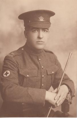 Photograph of unidentified man in Canadian Army Medical Corps uniform