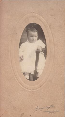 Photograph of baby on a chair