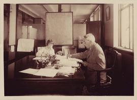 Photograph of Alex Fasken and Marion McLelland in his law office