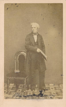 Photograph of Professor Faraday