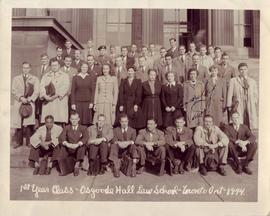 1st year class - Osgoode Hall Law School - Toronto, Ont. - 1944