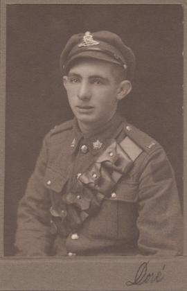 Photograph of unidentified Canadian soldier