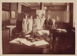 Photograph of female office staff at Fasken firm