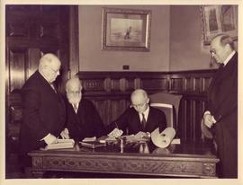 Photograph of Robert Spelman Robertson swearing-in as Chief Justice of Ontario