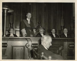 Photograph of Justices Helen Kinnear, George Gale, Thomas J. Darby, Harold E. Fuller, and James S...