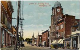 Queen St., looking West, Brampton, Ont.