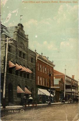 Post Office and Queen's Hotel, Brampton, Ont.